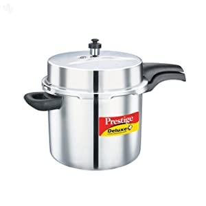 Prestige PRDA10 Deluxe Alpha Induction Base Pressure Cooker 10-Liter Stainless Steel