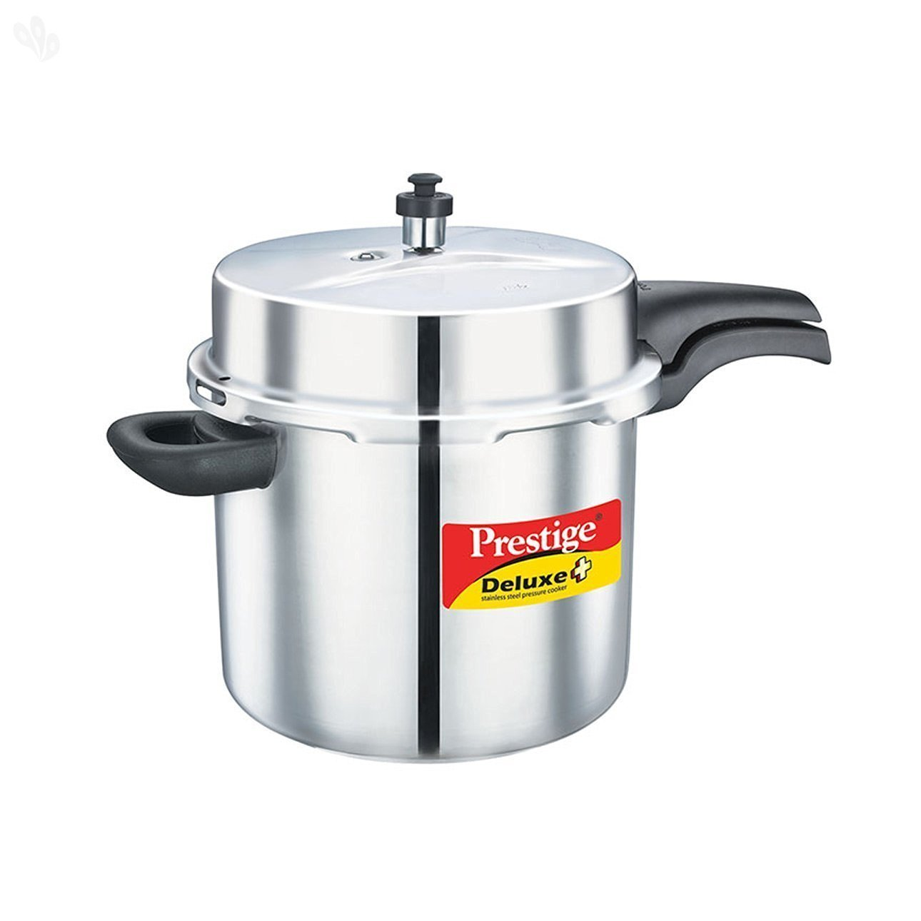 Prestige 10-Liter Deluxe Alpha Induction Base Stainless Steel Pressure Cooker, Small, Silver by Prestige