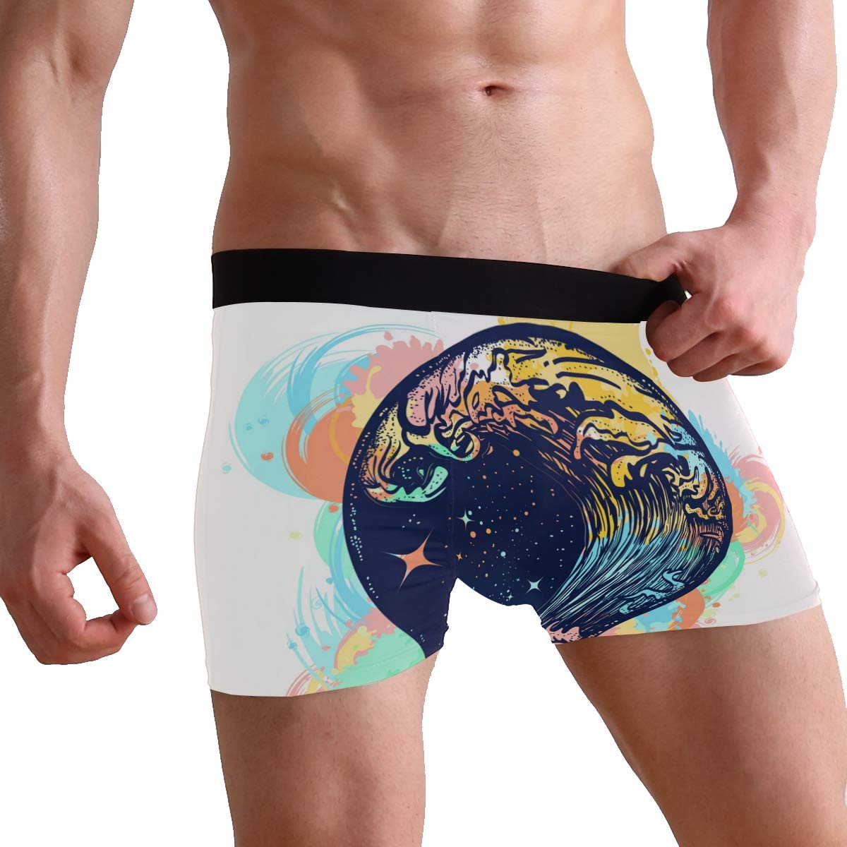 HULKBIDBV Mens underwearStorm Light Bulb Color Tattoo Polyester