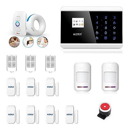 abto GSM alarma de sensor de movimiento de alarma con sensores de alarma de ventana y