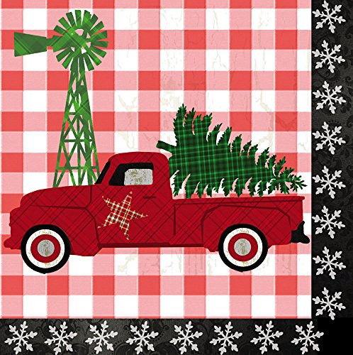 Cypress Home Farm Christmas Paper Lunch Napkin, 20 Count