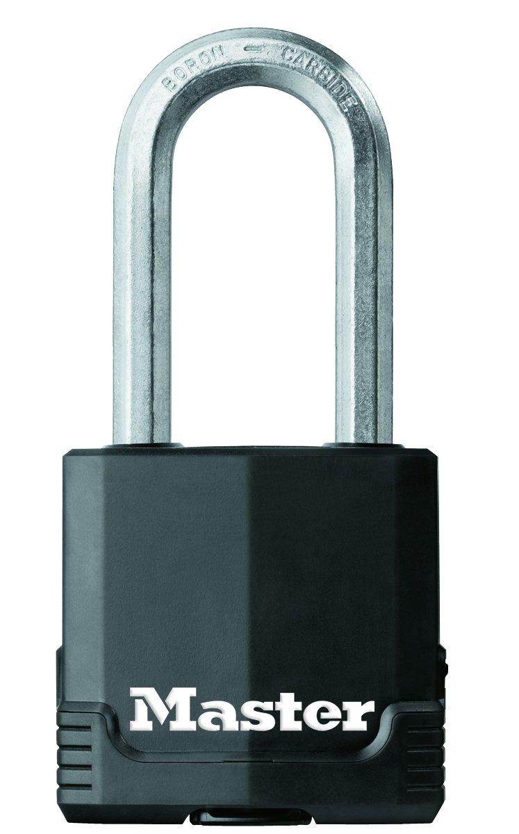 Master Lock Padlock, Covered Laminated Steel Lock, 1-7/8 in. Wide, 1115DLHIM