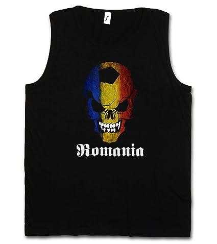 Black Classic Romania Football Skull Flag Muscle Shirt – Fußball Fan  Hooligan Totenkopf Banner Fahne Rumänien Größen S – 5XL: Amazon.de:  Bekleidung