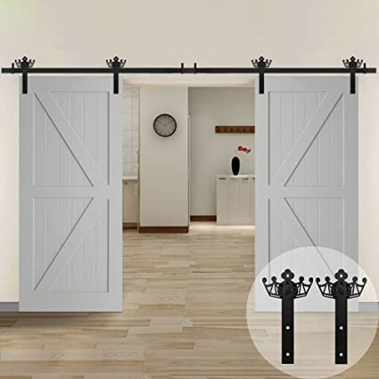 Amazon Winsoon New Closet Double Sliding Barn Door Hardware Kit
