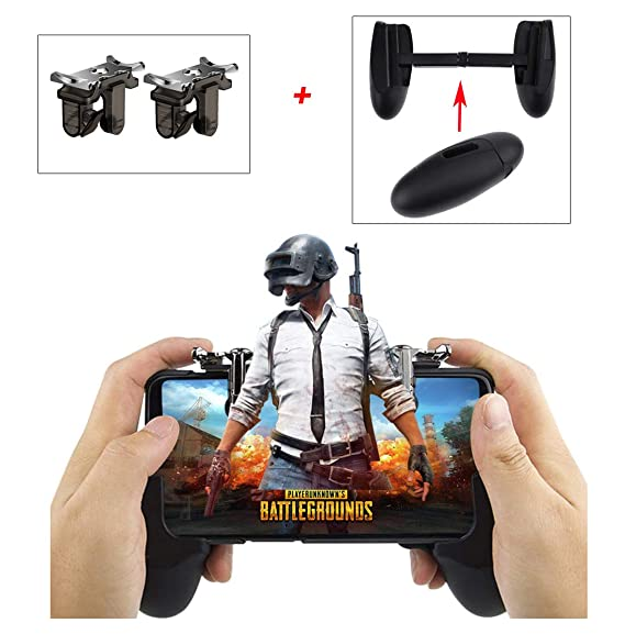 Amazon com: Mobile Game Grip with 2 Sensitive Triggers