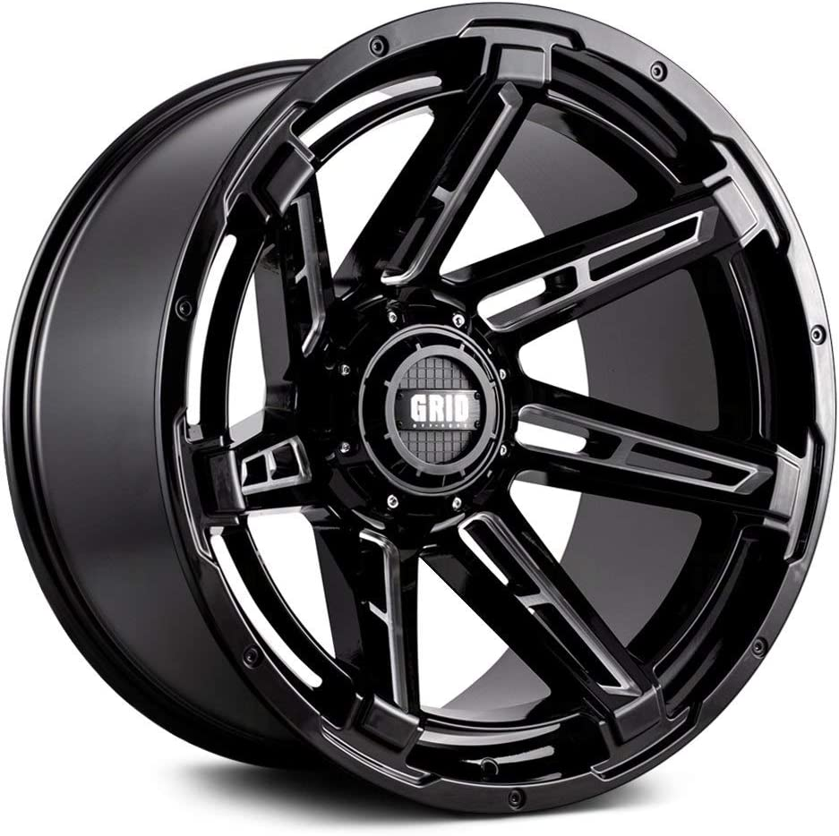 Amazon Com Grid Off Road Gd12 Custom Wheel 20x9 5 Offset 6x120 65 Bolt Pattern 78 1mm Hub Gloss Black With Milled Accents Rim Automotive