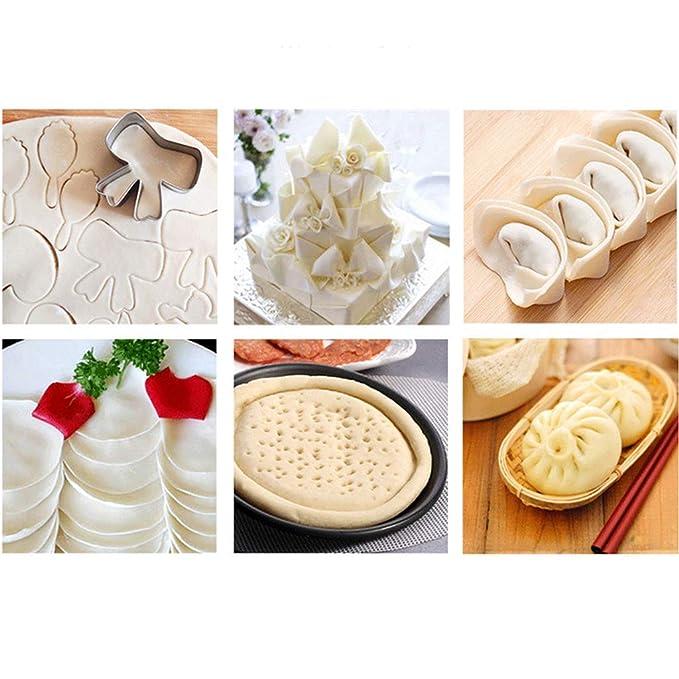 JLDN Madera Rodillo de Amasar, horneado Antiadherente Rolling Pin ampliamente Utilizado en Pasteles, Fideos Hechos a Mano, Pizza, Pan, Dulce de Leche ...