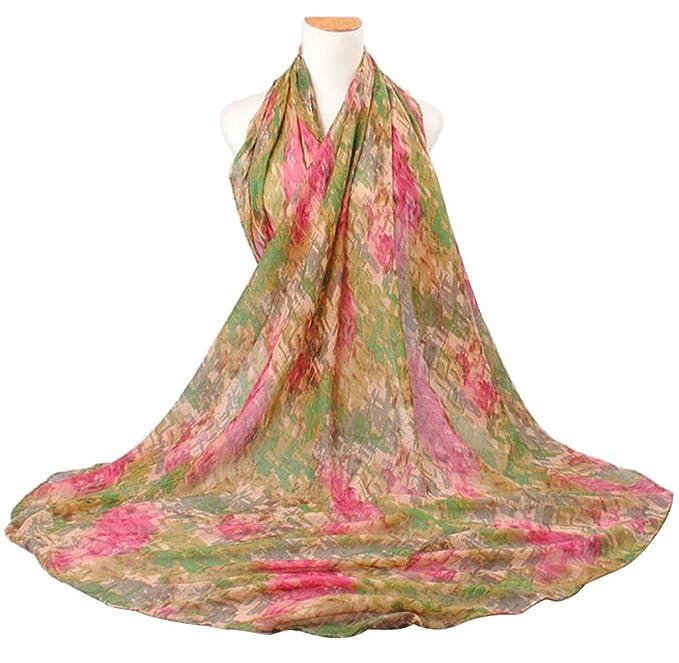 Ularma Moda La mujer hermosa raza patron de color Voile Bufanda bufandas chal de abrigo abrigos