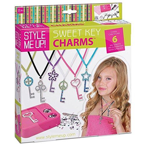 Style Me Up - DIY Key Necklace Craft Kit for Girls - Friendship Necklace Making Kit - SMU-610 ()