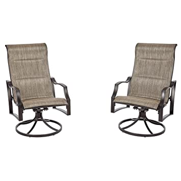 aluminum sling patio furniture. Hampton Bay Statesville Pewter Swivel Aluminum Sling Outdoor Lounge Chair (2-Pack) Patio Furniture L