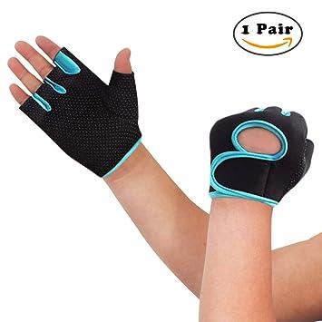 nlife POWER-GRIP half-finger Guantes de deportes, ejercicio guantes ideal para ciclismo, remo, levantamiento de pesas, y Cross Fit Formación: Amazon.es: ...