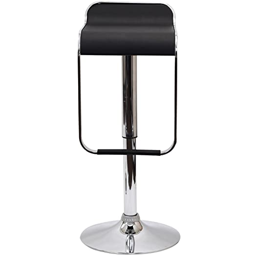 amazoncom modern bar stools set of two black kitchen u0026 dining - Amazon Bar Stools