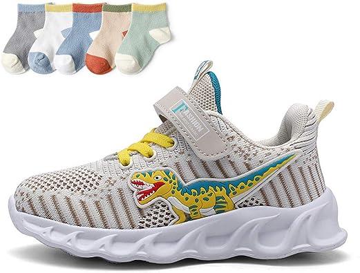 XFQ Zapatillas De Correr Unisex para Niños, Zapatillas De Deporte Livianas para Niños Zapatillas Deportivas Transpirables De Malla Alta Absorción De Choque Elástica Estudiante Informal: Amazon.es: Zapatos y complementos