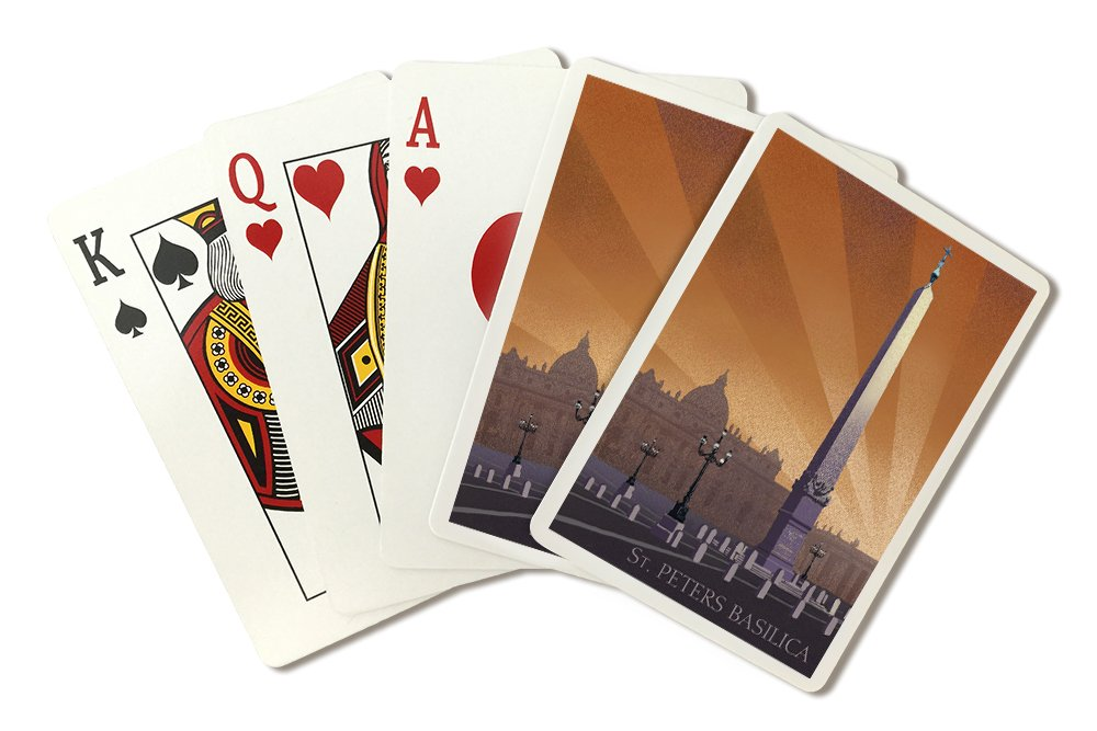 Rome, Italy - St Peters Basilica - Vatican City (Playing Card Deck - 52 Card Poker Size with Jokers)