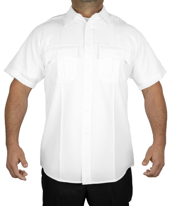 First Class Short Sleeve Uniform Shirt 1XL White