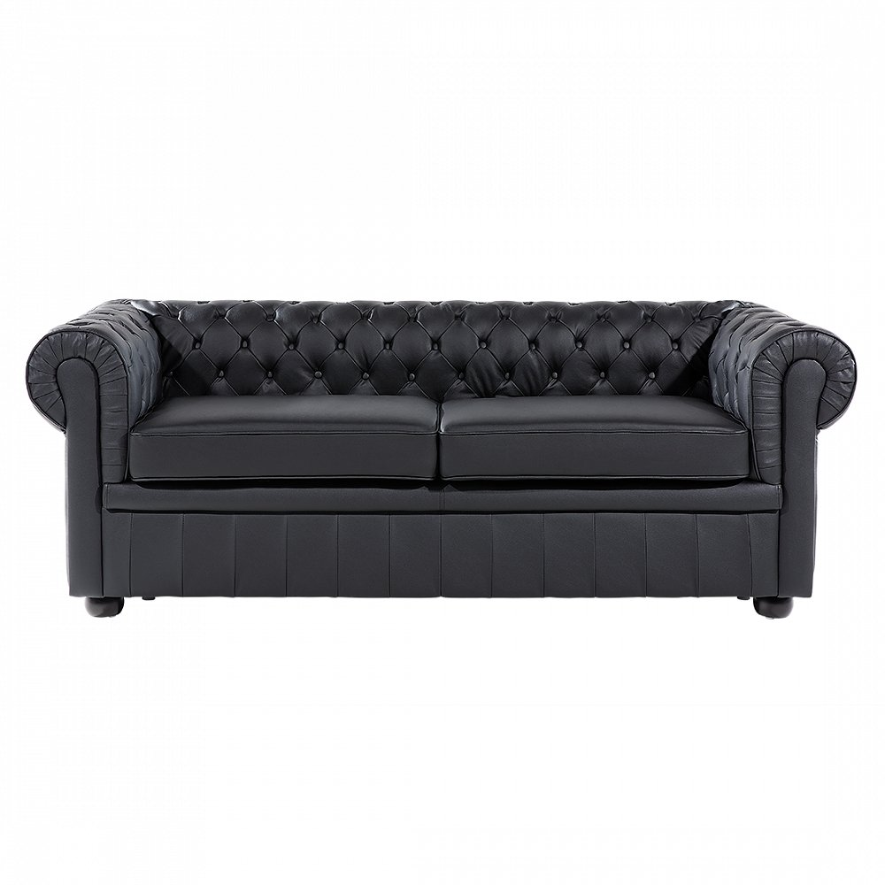 chesterfield sofa schwarz ledersofa ledercouch online kaufen. Black Bedroom Furniture Sets. Home Design Ideas