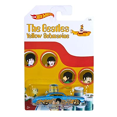 "FISH'D N CHIP'D"" 2016 Hot Wheels THE BEATLES 50th Anniversary ""YELLOW SUBMARINE"" 1:64 Scale Collectible Die Cast Metal Toy Car Model 1/6: Toys & Games,"