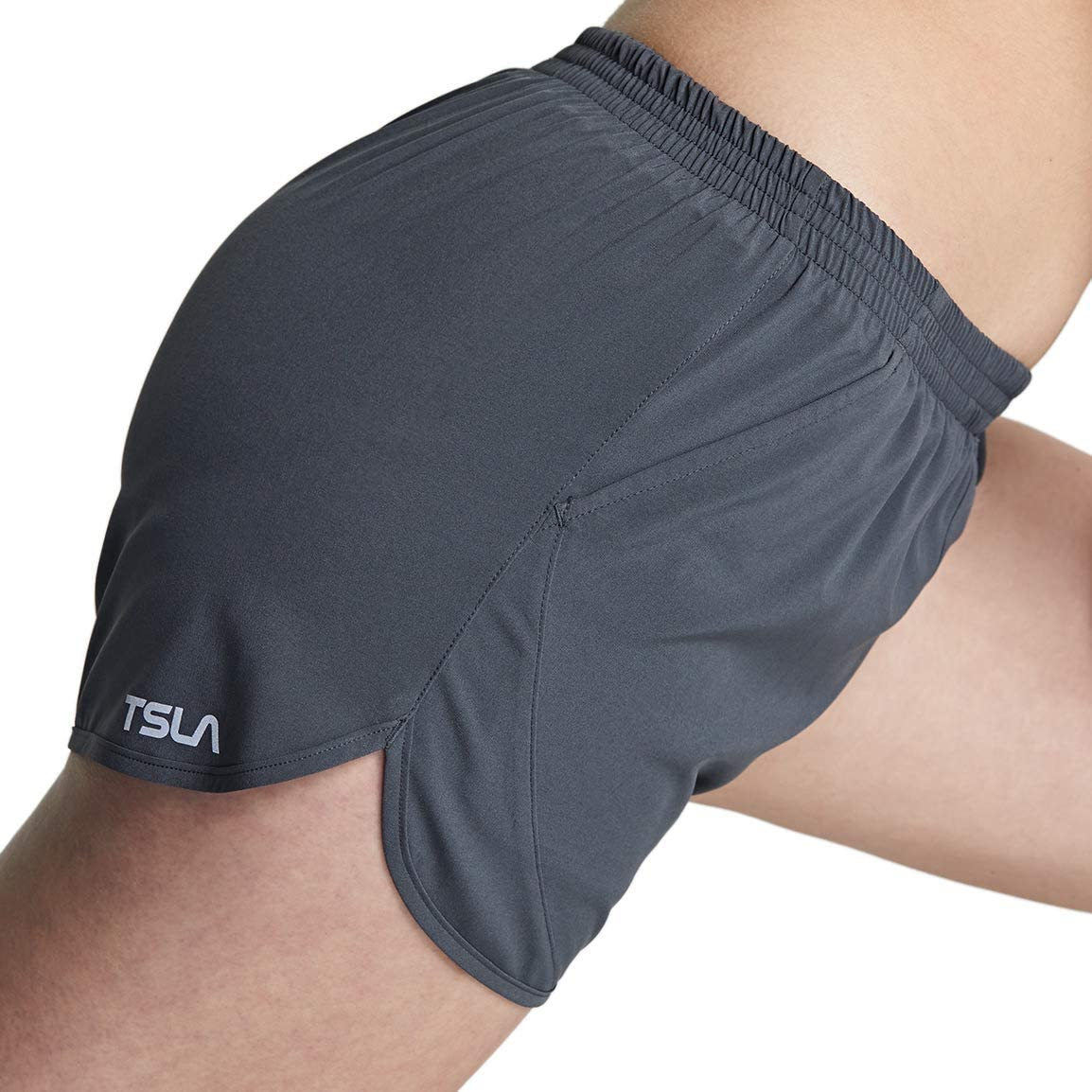 Dry Fit Active Sports Workout Shorts TSLA 1 or 2 Pack Womens Running Shorts Gym Exercise Athletic Short with Pockets