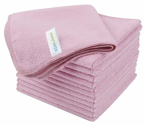 12 toallas microfibra – Color Rosa Pastel – Violetta – 2018 – muy bella acabado,
