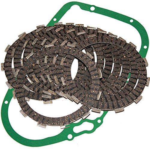 Caltric CLUTCH FRICTION PLATES & GASKET Fits SUZUKI VL1500 VL-1500 VL1500B Intruder 1500 (Suzuki Intruder Clutch)