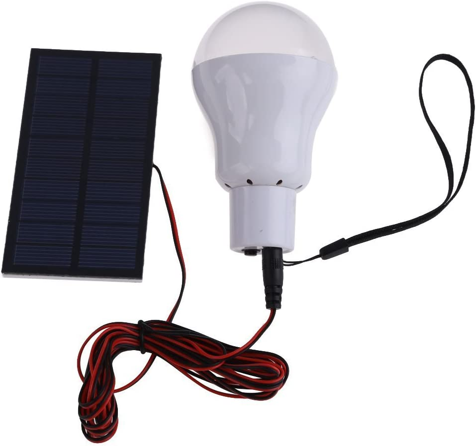 Portable Solar Light Bulb LED Rechargeable Hanging Lamp Outdoor Energy Lighting