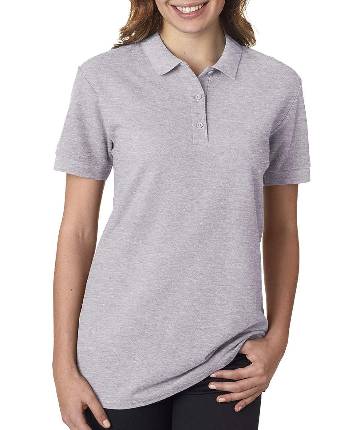 Womens Premium Cotton Double piqu/é Sport Shirt