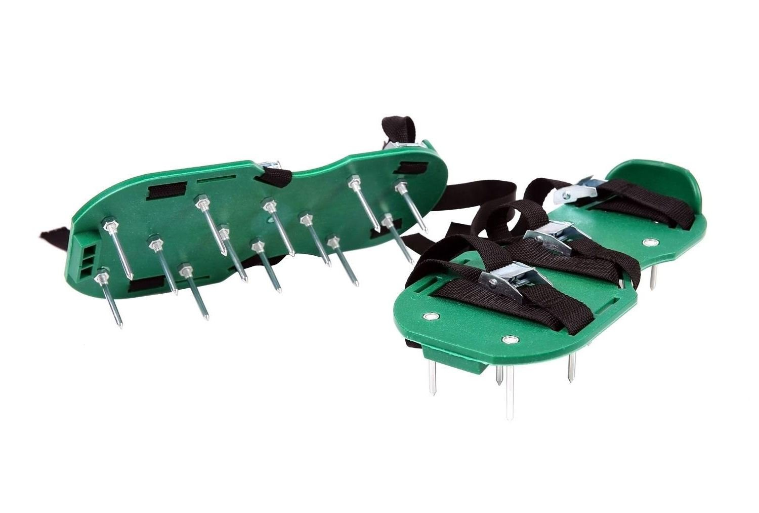 JfM Garden Lawn Aerator Shoes - with 26 spikes to allow your grass to breathe - NOW WITH 6 x METAL BUCKLES! JustForMoo