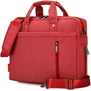 "SNOW WI 13.3"" Expandable Laptop Shoulder Bag for MacBook,Acer,Asus,Dell(Red)"