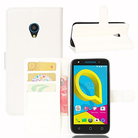 8d792b8103 Guran® Funda de Cuero PU Para Alcatel U5 4G Smartphone Función de Soporte  con Ranura