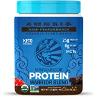 Sunwarrior - Warrior Blend, Plant Based, Raw Vegan Protein Powder with Peas & Hemp, Chocolate, 15 Servings