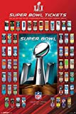 """Trends International RP15322 Collector's Edition Super Bowl LI Tickets Wall Poster, 24"""" x 36"""""""