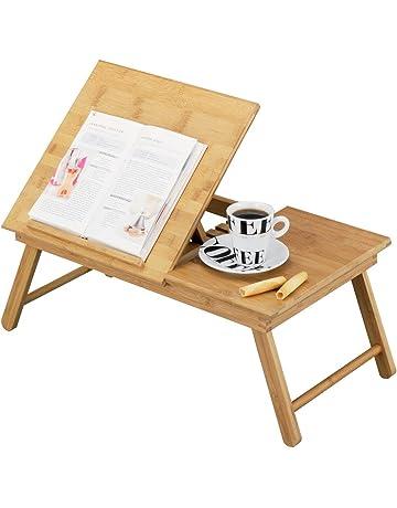 Zeller 25325 - Bandeja para la cama con atril de lectura, madera de bambú (