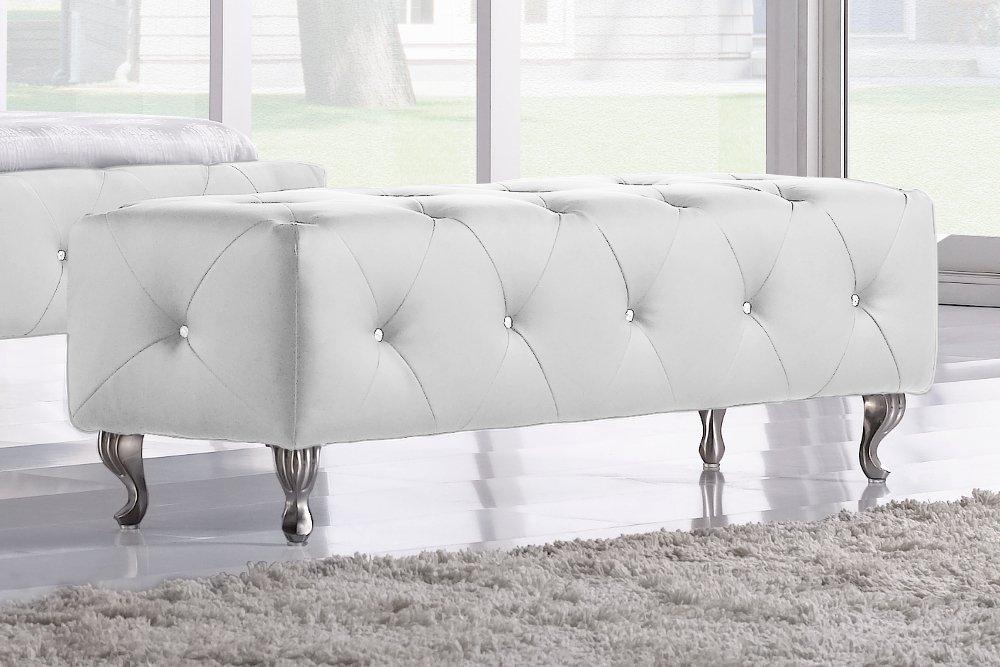 Extravagantes Bett GOYA 180x200 Weiss Glaskristalle Doppelbett 180x200 Cm:  Amazon.de: Küche U0026 Haushalt