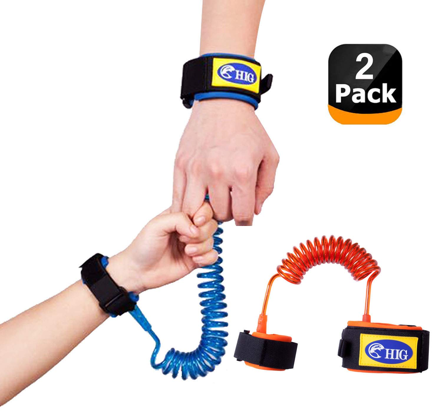 HIG Toddler Leash Anti Lost Wrist Link Safety Kid Leash Harness for Toddlers,Kids & Babies, Toddler Wrist Harness Safety Wrist Leashes by HIG (Image #1)
