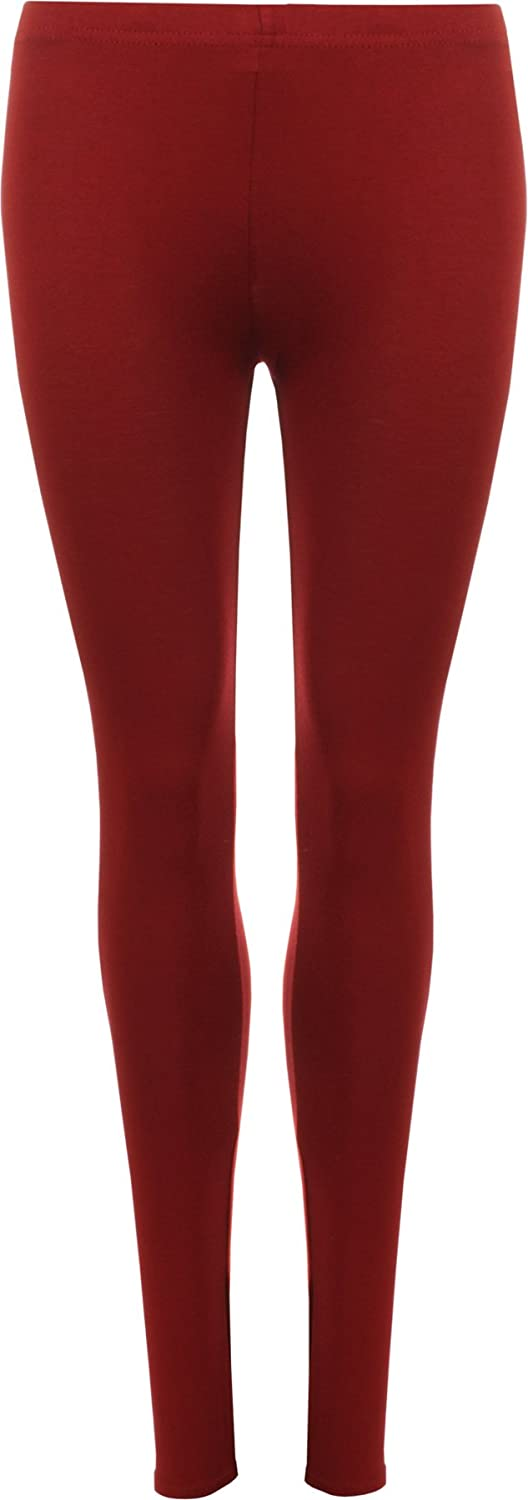 bad4984fe971c WearAll Ladies Stretch Long Leggings Womens Plus Size 12-30 16817