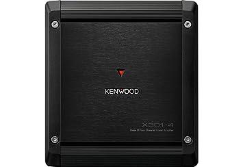 Kenwood X301-4 4.0 Coche Alámbrico Negro - Amplificador de Audio (4.0 Canales,