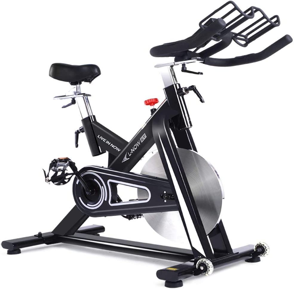 pooboo Indoor Cycling Bike, Exercise Bike Trainer Bicycle Cardio Fitness Heart Pulse LCD Display Stationary Indoor Pro Indoor Training Equipment