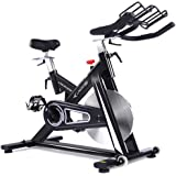 pooboo Indoor Cycling Bike, Exercise Bike Trainer Bicycle Cardio Fitness Heart Pulse W/LED Display Stationary Indoor Pro Indoor Training Equipment
