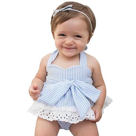 osyard recién nacido bebé niñas lazo camiseta + pantalones cortos + diadema ropa trajes set azul