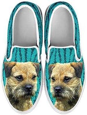 petkanvas Cute Australian Terrier Dog Slip Ons Shoes for Kids