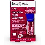 Amazon Basic Care Mini Nicotine Polacrilex Lozenge, 4 mg (nicotine), Stop Smoking Aid, Cherry Ice Flavor; quit smoking with c