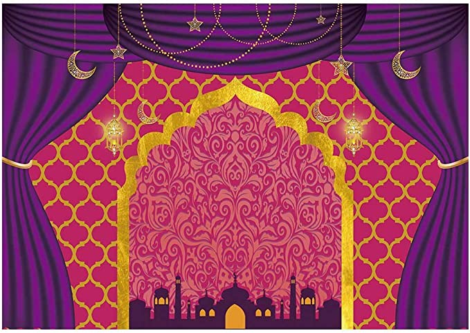 15x10ft Vinyl Indian Backgrounds for Kids Child Birthday Party Architecture Castle Photography Backdrops for Cartoon Theme Party Bedroom Decoration Photo Studio Booth Props BJZYLY7 for Party Decoratio