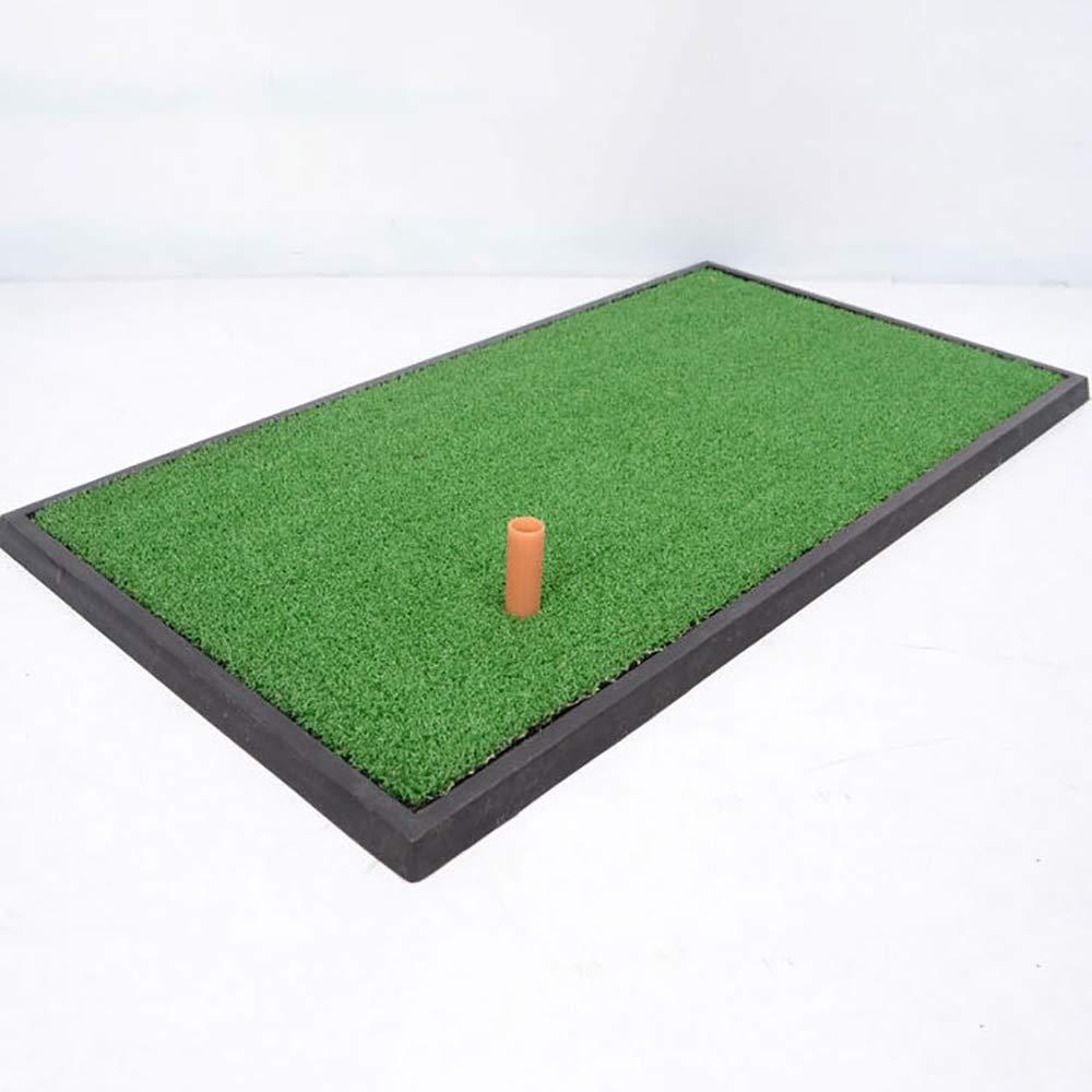 ゴルフ打撃のマット、小さい足跡、貯えること容易および可搬性、滑り止めの衝撃吸収のゴム製 Soleplate、12.99 * 24.81 インチのゴルフ打撃のマット   B07Q1BYVF6
