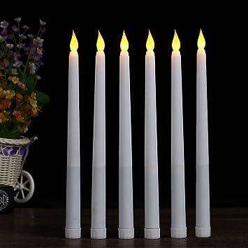 Amazon.com: (Conjunto de 6) 11 inch LED sin llama vela ...