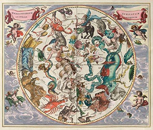 Celestial Harmonia Vintage Reproduction Stars Astronomy Astrology Print Poster