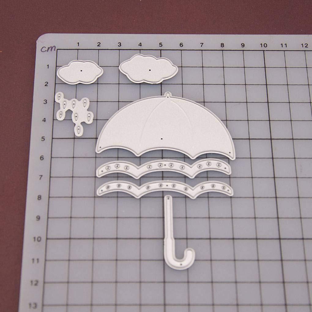 Fornateu Carbono Corte de Acero en Relieve Die Cortador de la Gota de Agua Paraguas moldea DIY Arte de Papel del Molde: Amazon.es: Hogar
