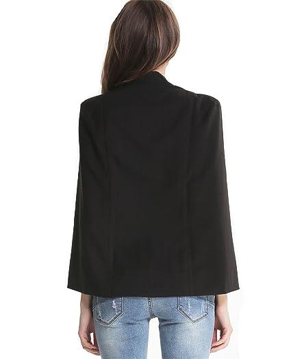 Sheinside - Chaqueta de traje - para mujer Negro negro ...
