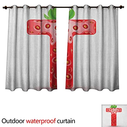 Amazon.com: Letter T Outdoor Balcony Privacy Curtain ...