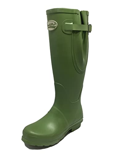 5d10ea0d8df Rockfish Ladies Womens Fully Adjustable Wide Fit Fitting Wellington Boots  Waterproof Outdoor Equestrian Horse Festival Knee High Long Durable Wellies  ...