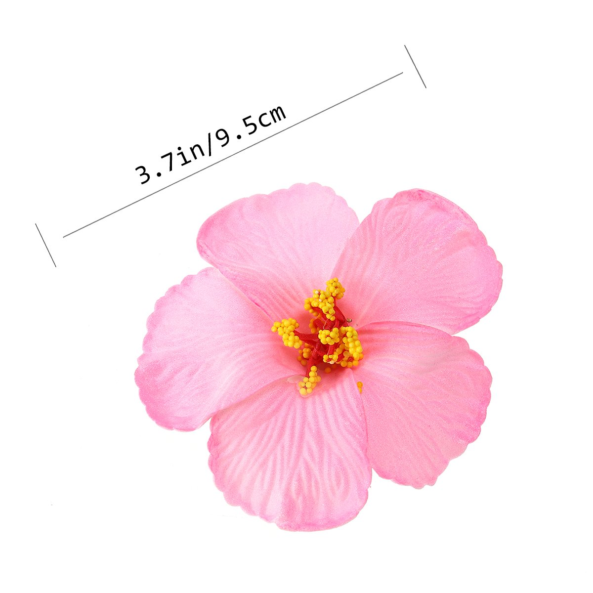 Amazon tinksky 1 pc hibiscus flowers hawaiian flowers amazon tinksky 1 pc hibiscus flowers hawaiian flowers artificial flowers for tabletop decoration party favors supplies wedding luau hawaii party izmirmasajfo